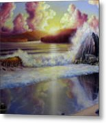 Seascape Sunset Metal Print