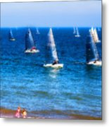 Seaside Fun Metal Print