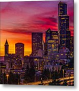 Seattle Colors... Metal Print