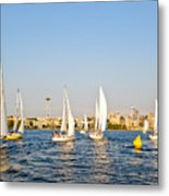 Seattle Sailboat Race Metal Print