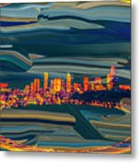 Seattle Swirl Metal Print
