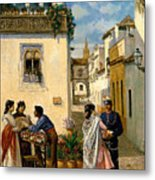 Sevillian Square Metal Print