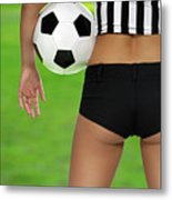 Sexy Referee Metal Print