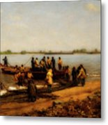 Shad Fishing On The Delaware River Metal Print