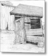 Shed And Wpa Outhouse On Johnson Farm Metal Print