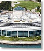 Shedd Aquarium In Chicago Aerial Photo Metal Print
