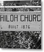Shiloh Church Sign Birds Landing Ca Metal Print by Troy Montemayor