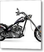 Shiny Chopper Metal Print