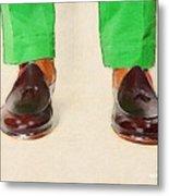 Shoe Work Metal Print