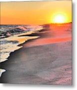 Shoreline Sunset Metal Print