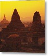 Shwesandaw Paya Temples Metal Print