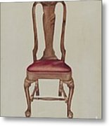 Side Chair Metal Print