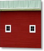 Side Of A Big Red Barn In The Palouse Metal Print