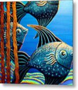 Sillyfish 3 Metal Print by Barbara Stirrup