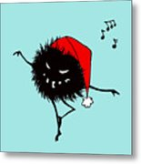 Singing And Dancing Evil Christmas Bug Metal Print