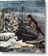 Sinking Of The Titanic Metal Print by Granger