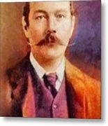 Sir Arthur Conan Doyle, Literary Legend Metal Print