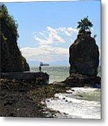 Siwash Rock Stanley Park Vancouver Metal Print