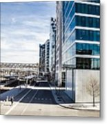 Skyscraper Architectural Details And Structures In Oslo Metal Print