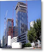 skyscraper construction in Downtown Los Angeles... Metal Print