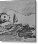 Sleeping Nude Metal Print