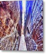 Slot Canyon Of Canyon De Chelly, Metal Print