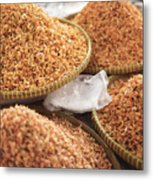Small Asian Dried Shrimp In Kep Market Cambodia Metal Print