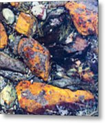 Small Rocks On The Beach Metal Print