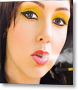 Smoking Metal Print