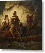 Smuggler In A Boat Metal Print