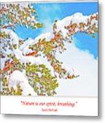 Snow-covered Conifer Metal Print