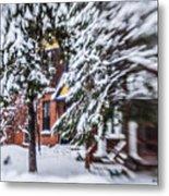 Snow... Metal Print
