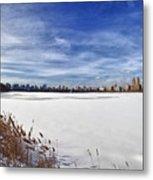 Snow Storm 2 Panorama  Metal Print