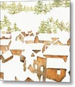 Snow Town Metal Print