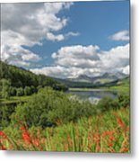 Snowdonia Lake Metal Print