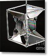Soap Films On A Cube Metal Print