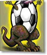 Soccer Saurus Rex Metal Print