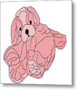 Soft Puppy Pink Metal Print
