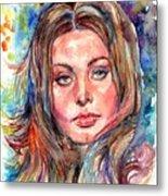 Sophia Loren Painting Metal Print