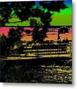 Soundside Treehouse View Metal Print