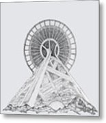 Space Needle- Looking Up Metal Print