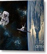 Space Rescue Metal Print