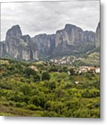 Spectacular Meteora Rock Formations Metal Print