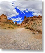 Spherical Panorama From A Canyon Charyn Metal Print