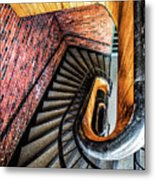 Spiral Stairwell Metal Print
