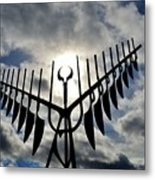 Spirit Catcher Against The Sky  Metal Print