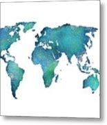 Spray Paint Map Metal Print