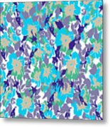 Spring Summer Flowers In Vintage Style. Seasons Floral Pattern Metal Print