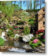 Springtime At The Old Mill Metal Print