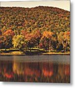 Squantz Pond In Autumn Metal Print